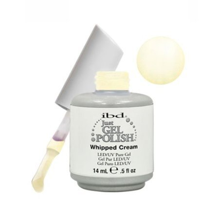 IBD Just Gel WHIPPED CREAM Soak Off White Nail Polish UV Man