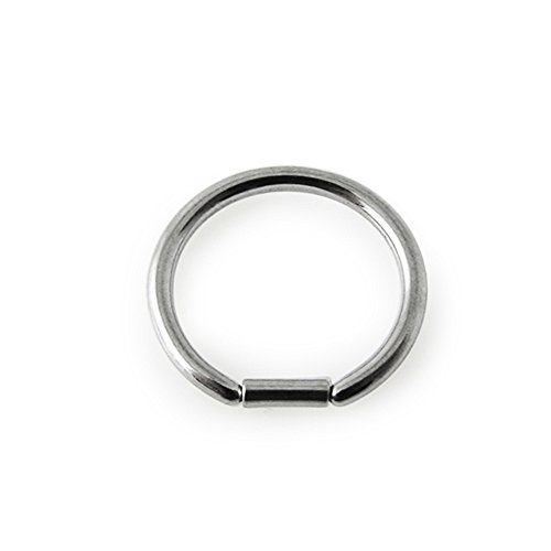 16Gx5/16 (1.2x8mm) 316L Surgical Steel Segment D-Rings Body jewelry
