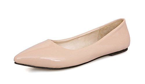 Vernis Femme Ballerines Aisun Pointu En Abricot Confort Bout Basse xYFxf4wOq