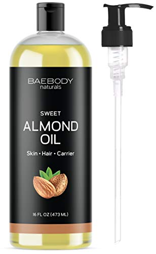 Baebody Naturals Sweet Almond Oil, 16 Ounces