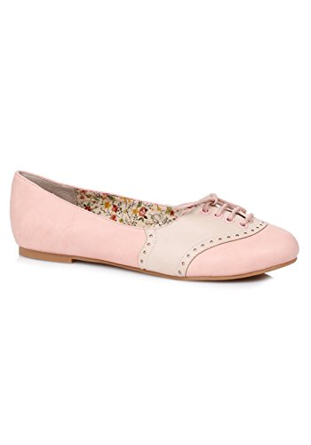 Oxford Pink Ellie Halle E Shoes BP100 Flat 1