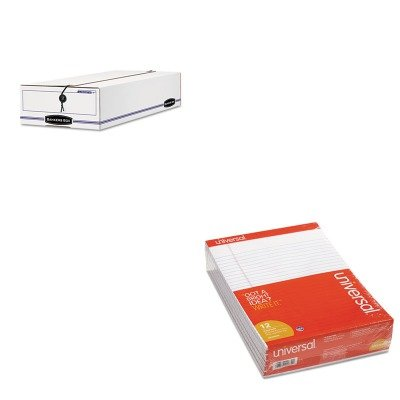 KITFEL00005UNV20630 - Value Kit - Bankers Box Liberty Check/Voucher Storage Box (FEL00005) and Universal Perforated Edge Writing Pad (UNV20630) by Bankers Box