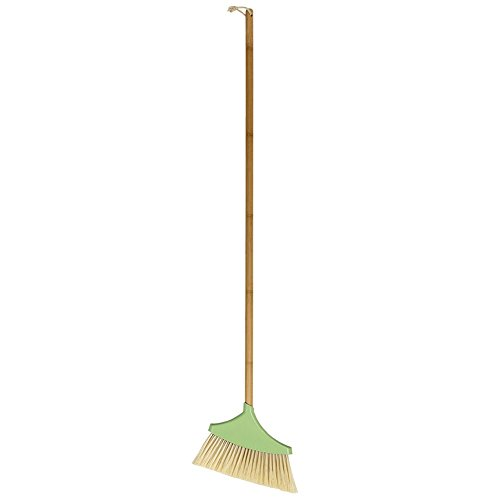 - Home Basics Bliss Collection Bamboo Cleaning Supplies, Green (Broom)