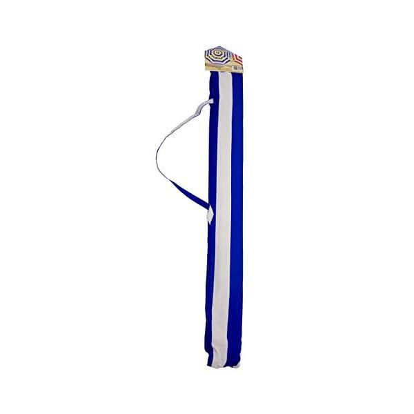 Shelta Australia Shelta Noosa - Ombrello da spiaggia, a righe, colore: Blu e Bianco 5 spesavip