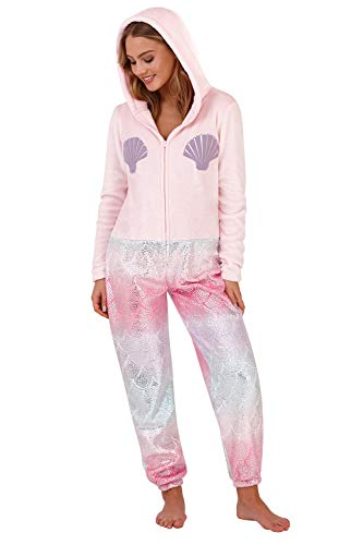tutina Pink tuta all Animal one Mermaid in di lusso 3D signore Loungeable qSzA6w