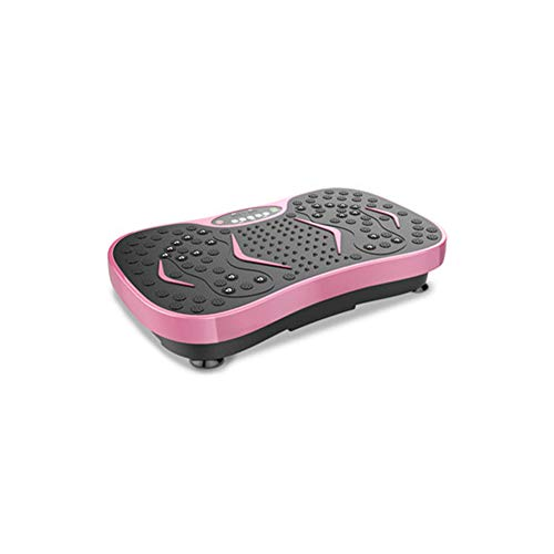 Ultra Slim Vibration Plate Whole Body Slim Crazy Fit Massage 99 Levels Speeds Bluetooth Music + Huge Surface + Unrivaled Design + Resistance Bands + Remote Control,Pink