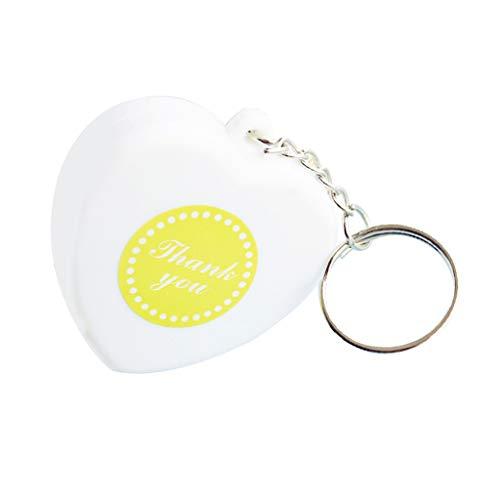 (Prettyia 5ft / 1.5m Retractable Heart Keychain Tape Measure Wedding Shower Favors)