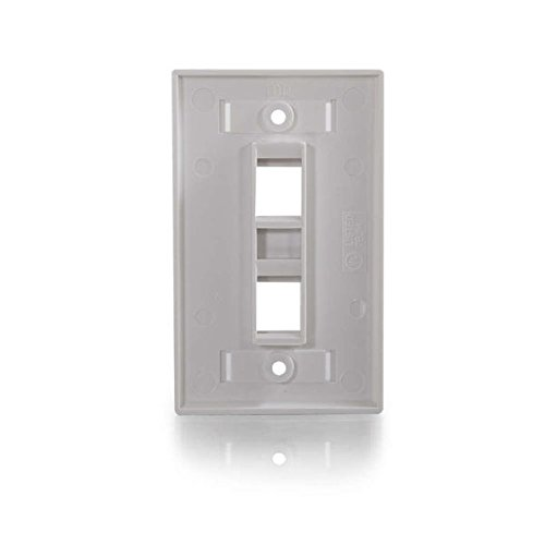 C2G/Cables to Go 03411 Two Port Keystone Single Gang Wall Plate, White Photo #3