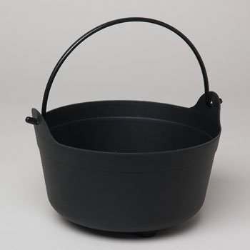 9.5x6in Black Witch's Cauldron Candy Bowl by GOV