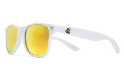 NCAA Wichita State Shockers  WICH-3 White Frame, Gold Lens Sunglasses, White, One - Wichita Sunglasses