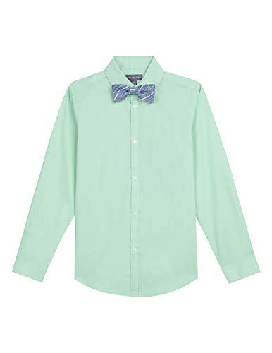 Van Heusen Boys Long Sleeve Dress Shirt and Bow Tie Set, Solid Mint 10