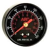 Ingersoll Rand ARO 100067 Regulator Gauge, 0 - 160 PSIG, Black