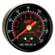 Ingersoll Rand ARO 100067 Regulator Gauge 0-160 PSIG Black