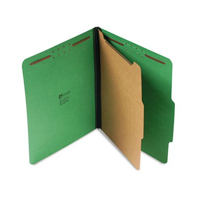 Universal 10202 Pressboard Folder, Letter, Four-Section, Emerald Green, 10/Box by Universal