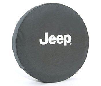 (Jeep Wrangler Black Denim W/ Logo Spare Tire Cover 31 Inch Mopar OEM)