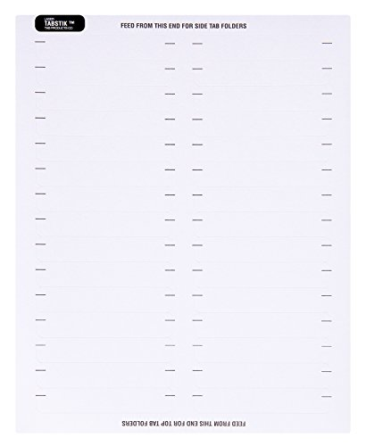 TAB Tabstick Name Labels, White, for Laser Printers, 750/Pack ()