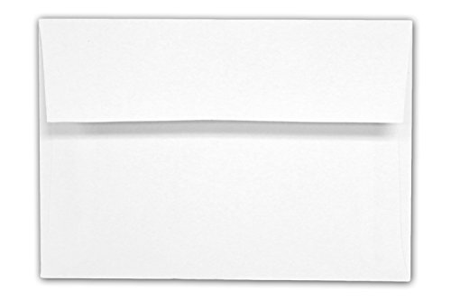 Envelope  A1 White 3 5 8  X 5 1 8  Square Flap   100 Envelopes   Desktop Publishing Supplies  Brand Envelopes