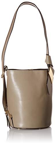 Calvin Klein womens Calvin Klein Karsyn Nappa Leather 3 in 1 Convertible Bucket, molasses, One Size Calvin Klein Hobo Bag
