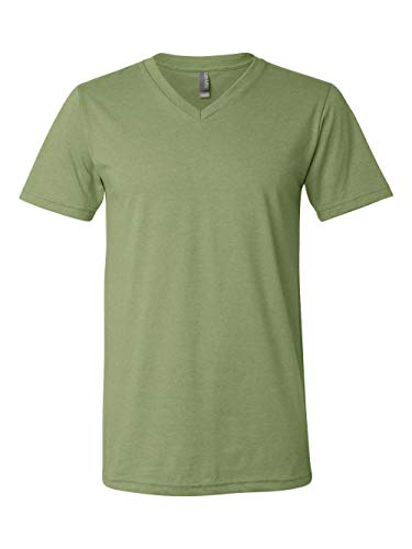 (Bella + Canvas Unisex Jersey Short-Sleeve V-Neck T-Shirt, XL, HEATHER)