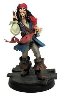 Gentle Giant Maquettes - Pirates of the Caribbean Jack Sparrow Animated Maquette by Gentle Giant