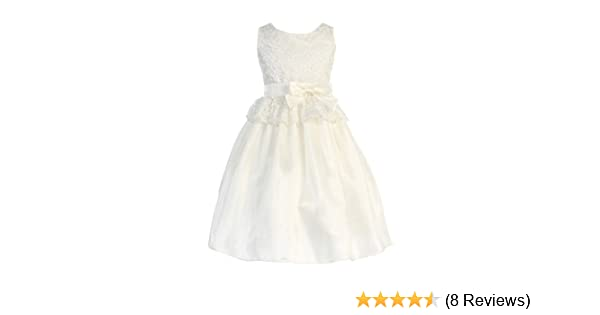 ae0774ebbcd Amazon.com  Sweet Kids Pink Lace Easter Dress Toddler Little Girls 2T-12   Clothing