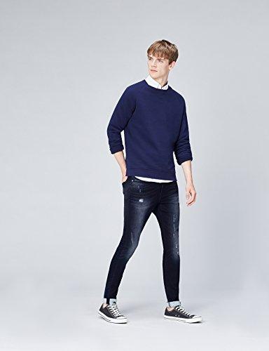 Effet Usé rigid Homme Skinny Find Bleu Jean E8TwR