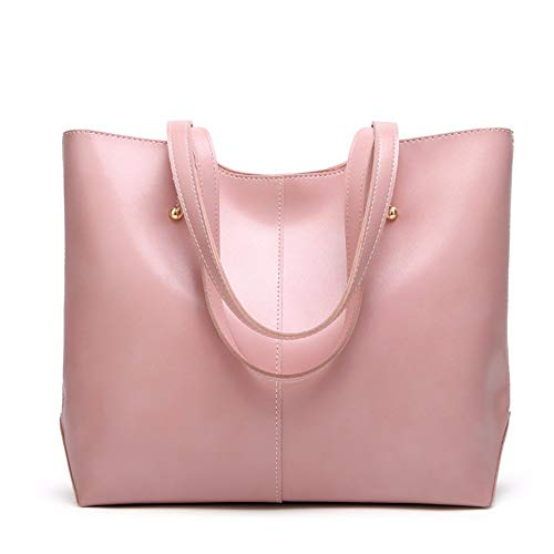 leather American European Pink handbag amp; 33x30x12cm and vintage wax fashion Oil wangjian handbag wtS0Z