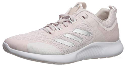 (adidas Women's Edgebounce 1.5 Running Shoe, Orchid Tint/Silver Metallic/White, 8 M US)