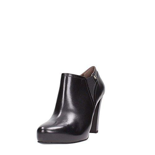 16302negro zapato mujer tronco FILOFORMA tacón alto negro Giardini–Piel