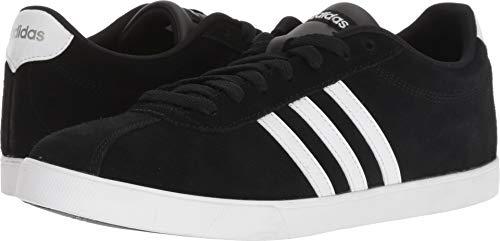 adidas Women's Courtset Sneaker, Black/White/Matte Silver, 7.5 M US