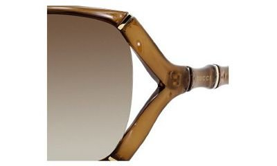 Gucci Women's 3508/S Rectangle Sunglasses,Brown Frame/Brown Gradient Lens,One - Sunglasses 2013 Gucci