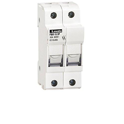 Pole Mounted Terminal (ASI AFB01G2P DIN Rail Mounted Class CC Fuse Holder, UL, 2 Pole, 18 to 8 AWG, 30 Amp, 600V)