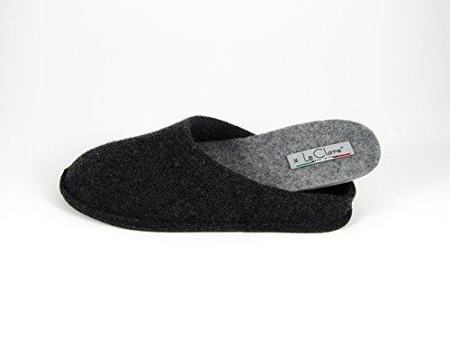 Pantofole da Donna Invernali Tinta Unita Antracite