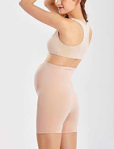Gratlin Women's Seamless Maternity Pregnancy Shapewear Panties High Waist Shorts