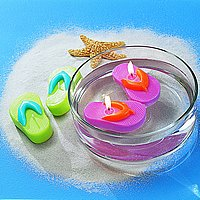 Fuchsia Flip Flop Candles -