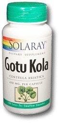 Solaray Gotu Kola capsules, 450 mg, 100 comte