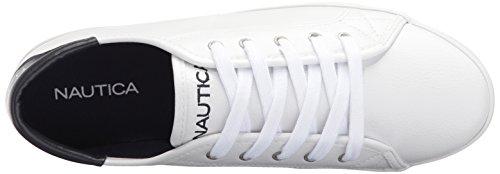 Nautica Womens Sleutelkoord Sneaker Wit Getrommeld