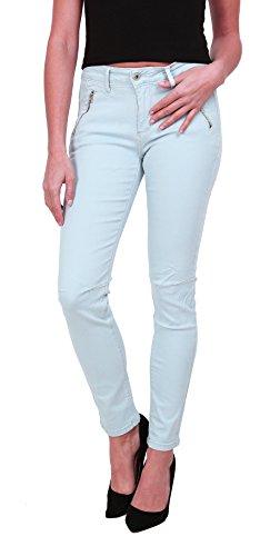 Onado Femme Jeans Slim Pantalon Denim Stretch du 36 au 44 Bleu Clair