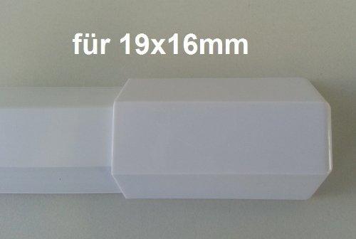 Farbe:weiss netproshop Verbinder Endst/ück f/ür Kabelkanal 19x16mm Innenma/ß Kunststoff, Trapezf/örmig Auswahl