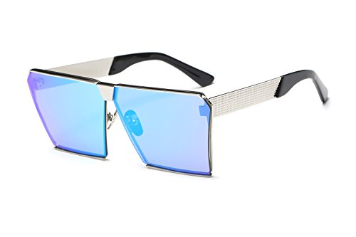 Square Retro Unisex Men Women Sunglasses For Girl boy Classic Lady Man Sunglass (Blue, - Glasses Sunglasses Walmart Over