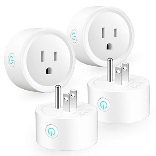 Smart Plug WiFi Outlets Mini Smart Socket for Smart Home Remote Control House Appliance & Electric Devices from Anywhere, Compatible with Amazon Alexa Echo Google Assistan, 4 Packs, Support 2.4GHz, N
