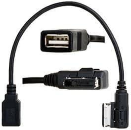 Keenso Cable de Carga USB Adaptador de Cable MP3 Interfaz de m/úsica Adaptador de Cable USB AMI MMI AUX MP3