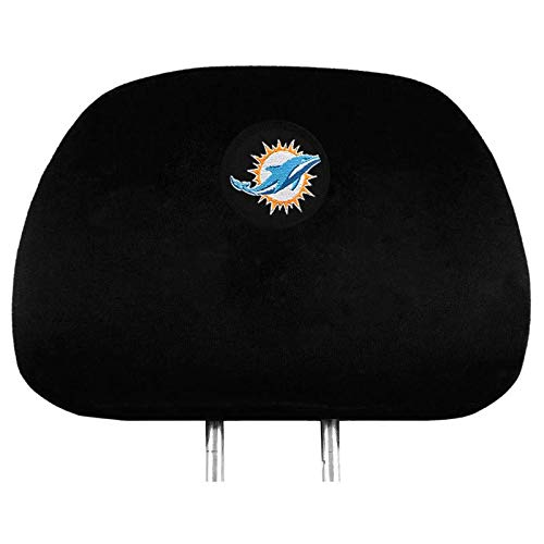 NFL 2 Pack Car Seat Headrest Covers - Pick Miami Dolphins