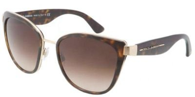 Dolce & Gabbana Women's DG2107 Sunglasses Gold / Brown Gradient - Dolce Sunglasses Gabbana &