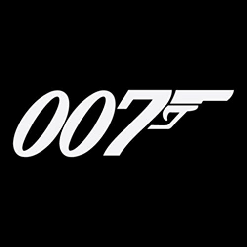 James Bond 007 Decals Vinyl Stickers (TWO PACK!!!)|Cars Trucks Walls Laptop|WHITE|2-5.5 In|KCD429