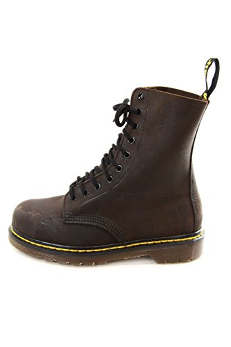Dr. Martens Vintage Safety Steel Toe Boots Chocolate Waxy Leather 10 Eyelet EU43 UK9