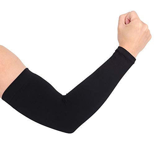 Simplicity Outdoor Sports UV Sun Protection Cooling Forearm Sleeves, Black-New -