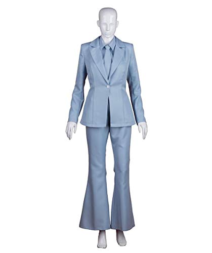 Exclusive! Women's Deluxe Costume for Cosplay Singer Bowie Lt. Blue Party Suit HC-212 ()