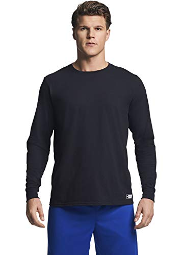 Russell Athletic Men's Essential Long Sleeve Tee, Black, XL