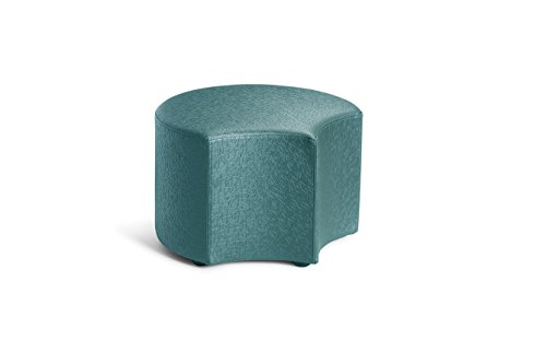 Logic Furniture MOONETL12 Moon 4 Face Ottoman, 12'', Teal by Logic Furniture
